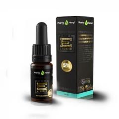 CBD E-Liquid 5% |10ml.|PREMIUM BLACK MENTHOL FLAVOR